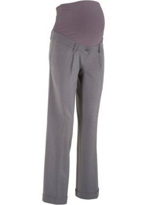 Широкие брюки для беременных (серый меланж) bonprix. Цвет: серый меланж