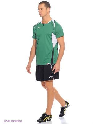 Комплект (футболка+шорты) SET OLYMPIC MAN ASICS. Цвет: темно-зеленый, черный