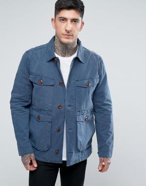 Parka London Куртка с четырьмя карманами. Цвет: темно-синий