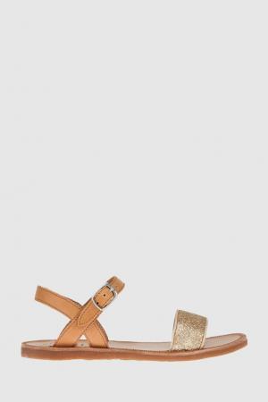 Кожаные сандалии Pom D'Api. Цвет: песочный
