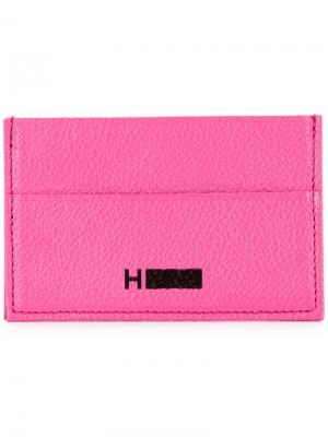 Визитница с логотипом H Beauty&Youth. Цвет: розовый и фиолетовый