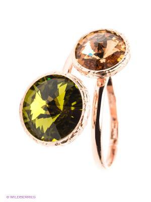 Кольцо NAVELL. Цвет: оливковый, бежевый