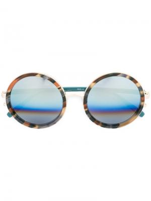 Солнцезащитные очки с круглой оправой Matthew Williamson. Цвет: коричневый