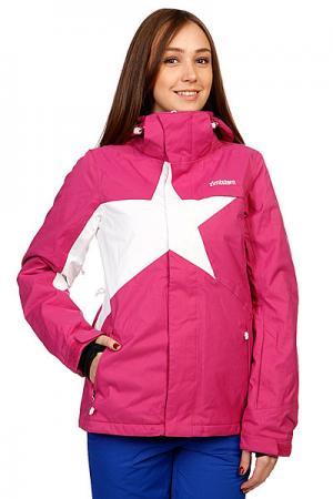 Куртка женская  Snow Jacket Snowy Women Fuchsia/White Zimtstern. Цвет: белый,розовый