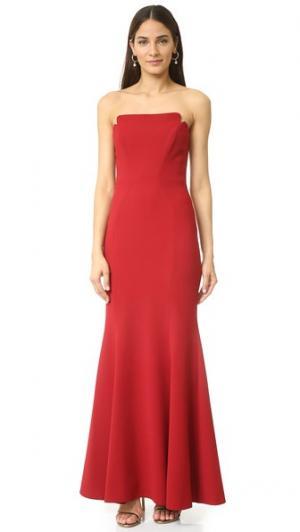 Вечернее платье без бретелек Jill Stuart. Цвет: коричневый