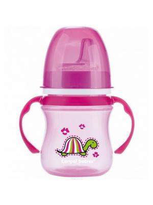 Поильник обучающий EasyStart с силиконовым носиком, 120 мл. 6+ Colourful animals, цвет: розовый Canpol babies. Цвет: розовый