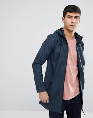 Brave Soul Прорезиненная куртка-дождевик. Цвет: темно-синий