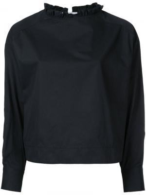 Блузка с оборчатым воротником Atlantique Ascoli. Цвет: чёрный