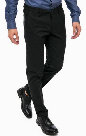 Серые классические брюки из хлопка DRYKORN. Цвет: серый