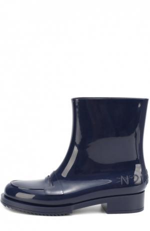 Резиновые сапоги с перемычкой N21#Kartell. Цвет: синий