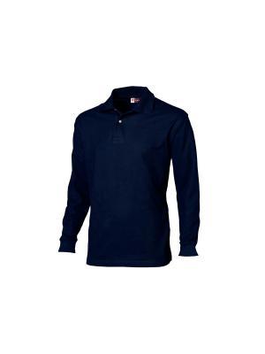 Рубашка поло Seattle мужская с длинным рукавом Дерево Счастья. Цвет: темно-синий