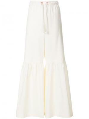 Расклешенные брюки на шнурке See By Chloé. Цвет: белый