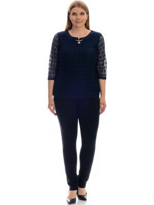 Блузка Modaleto. Цвет: темно-синий