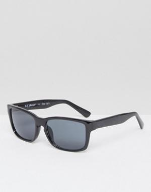 AJ Morgan Квадратные солнцезащитные очки в черной оправе. Цвет: черный