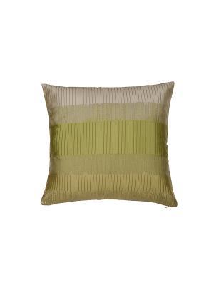 Подушка декоративная Оливковая полоса ECOTEX. Цвет: бежевый