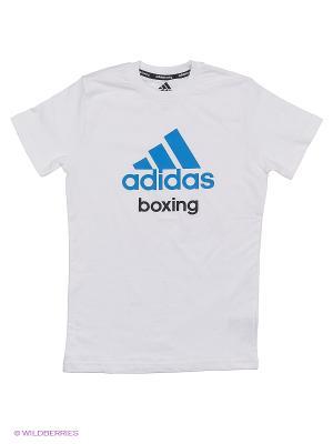 Футболка детская Community T-Shirt Boxing Kids Adidas. Цвет: белый, синий