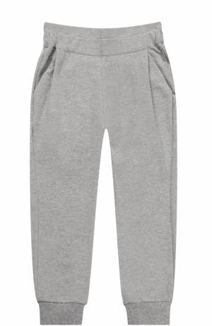 Спортивные брюки с эластичными манжетами и широким поясом Fendi Roma. Цвет: серый