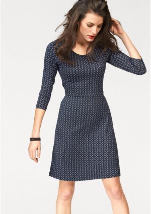 Платье Aniston. Цвет: синий/белый с рисунком