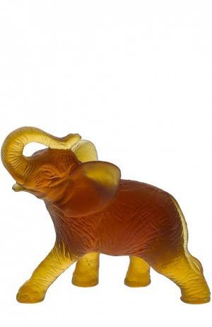 Скульптура Elephant Daum. Цвет: бесцветный