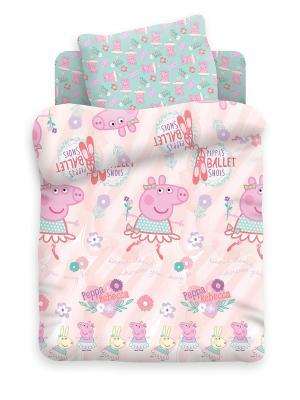 Постельное белье Свинка Пеппа. Цвет: лиловый, фиолетовый