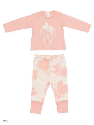Комплект:  футболка + ползунки Gulliver Baby. Цвет: бледно-розовый