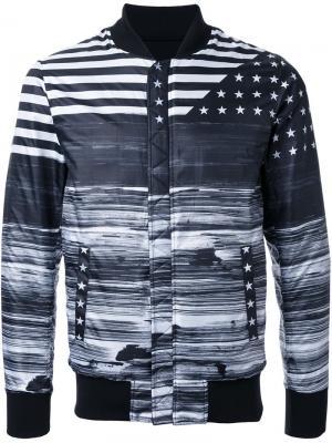 Куртка бомбер с принтом Yoshio Kubo. Цвет: чёрный