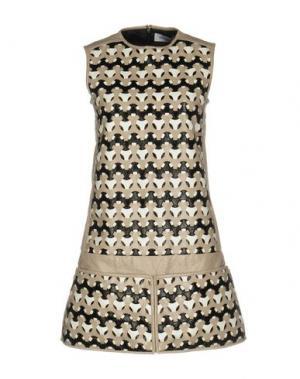 Короткое платье COURRÈGES. Цвет: бежевый
