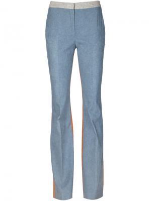 Расклешенные снизу брюки Arthur Arbesser. Цвет: синий