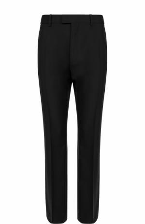Шерстяные брюки прямого кроя Balenciaga. Цвет: черный