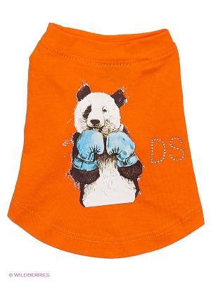 Футболка Doggy Style. Цвет: оранжевый