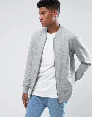 Adidas Originals Серая спортивная куртка XbyO BQ3111. Цвет: серый