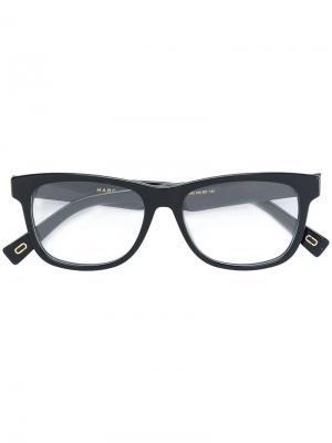 Очки в квадратной оправе Marc Jacobs Eyewear. Цвет: чёрный