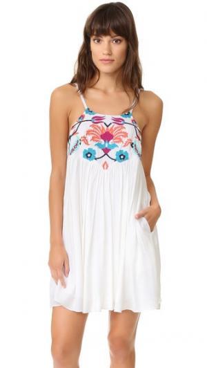 Пляжное мини-платье Senorita 6 Shore Road by Pooja. Цвет: белый лунный свет