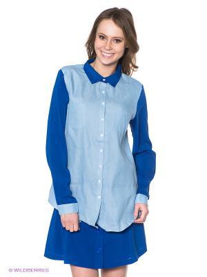 Блузка Neohit. Цвет: голубой, синий