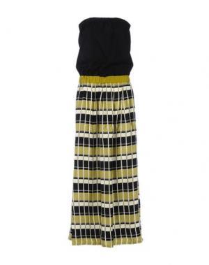 Длинное платье .TESSA. Цвет: кислотно-зеленый