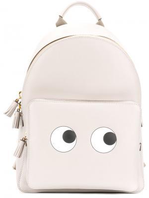 Рюкзак Eyes Anya Hindmarch. Цвет: серый