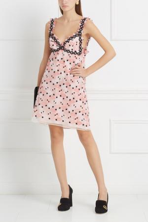 Платье с принтом Giamba. Цвет: розовый