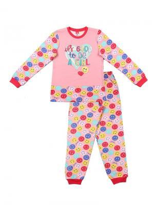 Пижама для девочки Cherubino. Цвет: персиковый