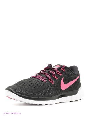 Кроссовки WMNS NIKE FREE 5.0. Цвет: черный, розовый