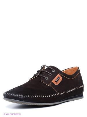 Ботинки Mario Ponti. Цвет: темно-коричневый