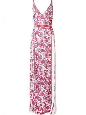 Вечернее платье Essie Zac Posen. Цвет: красный