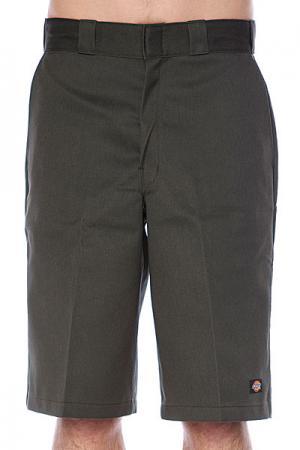 Классические мужские шорты  13 Multi Pocket Work Short Olive Green Dickies. Цвет: зеленый