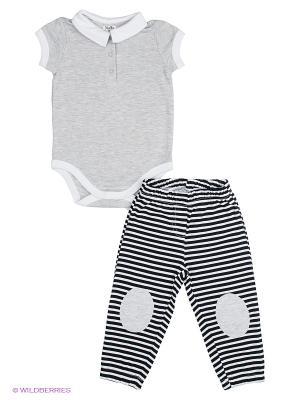 Комплект NinoMio. Цвет: серый, белый, черный