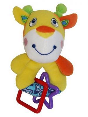Игрушка жираф-погремушка Lorelli Toys. Цвет: серо-зеленый,красный,желтый
