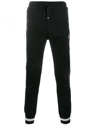 Спортивные брюки с лампасами Dolce & Gabbana. Цвет: чёрный