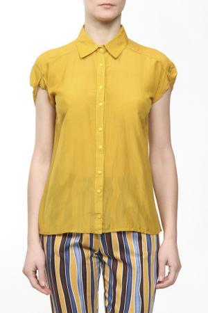 Рубашка ANNA SINITSYNA. Цвет: желтый