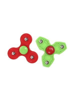Комплект (Спиннер - 2 шт.) Happy Charms Family. Цвет: красный, зеленый, серебристый