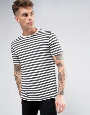 Brooklyn Supply Co. Темно-серая футболка в полоску Co. Цвет: серый