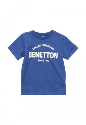 Футболка United Colors of Benetton. Цвет: синий