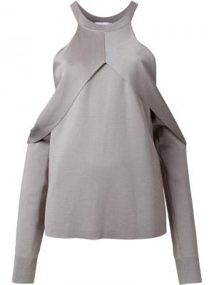 Блузка с открытыми плечами Dion Lee. Цвет: серый